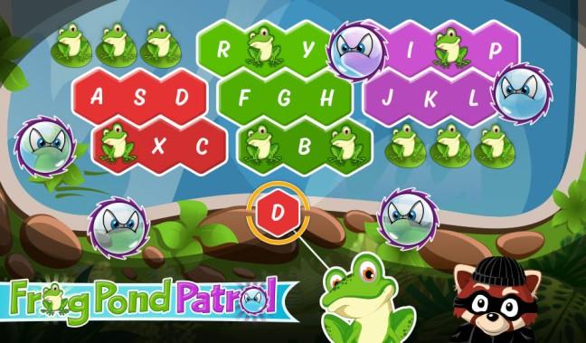 Image result for typetastic games lesson 2 frog pond patrol