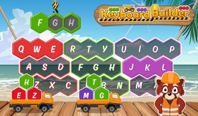 Image result for typetastic games lesson 1 keyboard builder